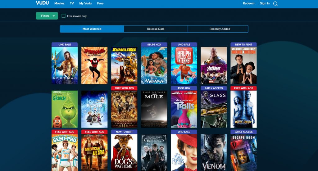 Vudu.com - Free Movie Streaming Service
